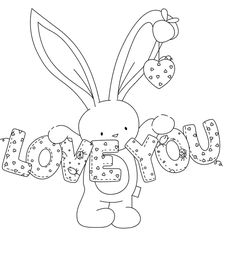 Cute rabbit rubber stamp Transparent Clear Stamps Silicone Seals for DIY scrapbooking photo album Card Making-in Stamps from Home & Garden on AliExpress Cute Coloring Pages, Coloring For Kids, Adult Coloring Pages, Coloring Books, Clipart Baby, Scrapbooking Photo, Diy Scrapbook, Baby Clip Art, Embroidery Patterns