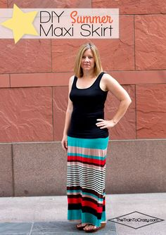 DIY-summer-maxi-skirt-tutorial - This would make a great serger project, as well! Serge the side seams, serge the elastic to the waistband, cover stitch the hem! Easy!