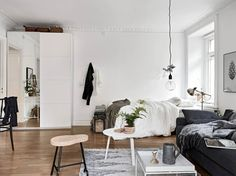 Cozy one room flat - via cocolapinedesign.com