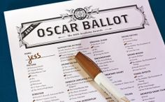 2014 printable Oscar bingo and ballot | How About Orange