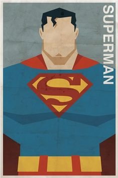 Superman - Vintage Style DC Posters...I'm completely digging these vintage style comic character posters by illustrator/designer Michael Myers. The stylized illustrations and digitally aged paper combine for a very cool effect.