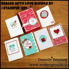 Notecardset made with Sealed with love bundle (sealed with love stamp set and love notes framelits) spring/summer catalog Stampin' Up!