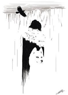 Jon Snow and Ghost. Beautiful.
