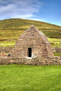 Oldest Church In Ireland, Dingle. The Gallarus Oratory. The oratory overlooks the harbour at Ard na Caithne (formerly also called Smerwick) on the Dingle Peninsula.