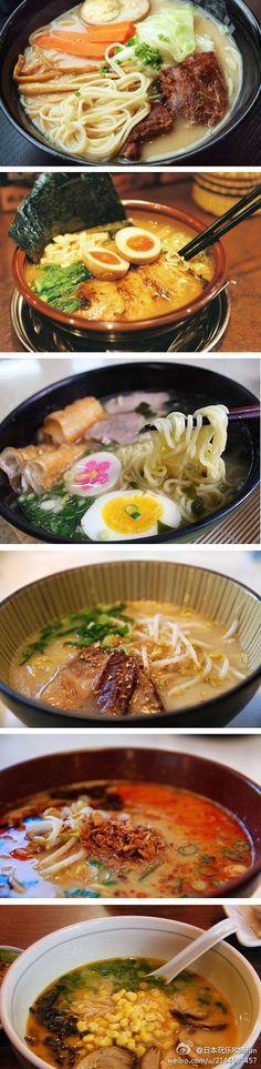 这些日本拉面看起来超好吃啊⋯⋯肚子饿了。