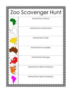 zoo scavenger hunt printables and book lists zoo scavenger hunts scavenger hunts and hunt 39 s. Black Bedroom Furniture Sets. Home Design Ideas