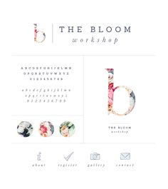 Brand style board for The Bloom Workshop - Elle & Company                                                                                                                                                      More