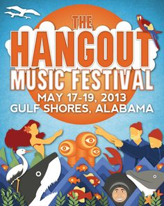 The Hangout Music Festival  |  Contest submission created by David Fallin. #graphicdesign #posterdesign #design #beach #musicfestival