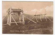 Eskimo Inuit Indian Graves Cemetery Alaska 1910c postcard