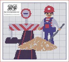 véhicule - véhicle - route - point de croix - cross stitch - Blog : http://broderiemimie44.canalblog.com/