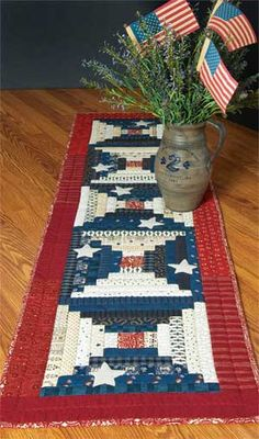 Homey Americana Star Spangled Banner Table Runner Kit