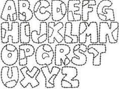 letras de fieltro moldes - Buscar con Google
