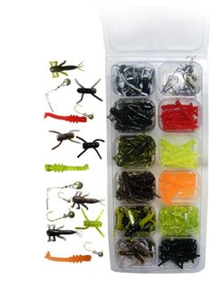 ARKIE PANFISH CREATURE KIT  A collection of our fish catching creature baits for panfish. Comes with matching jig heads and spinners. www.arkiejigs.com