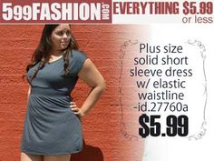 """599fashion.com - Everything $5.99 or Less. http://www.599fashion.com/Picks-of-the-Week-PLUS-SIZE_c_513.html Check out this weeks """"5 Favorite Picks""""."""