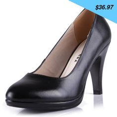 Checkout this new stunning item Genuine leather women's shoes single shoes round toe platform thick heel black high-heeled shoes fashion work shoes - US $36.97 http://businessshop1.info/products/genuine-leather-womens-shoes-single-shoes-round-toe-platform-thick-heel-black-high-heeled-shoes-fashion-work-shoes/