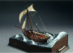 HMS Sherborne 1/72 Scale Model Diorama