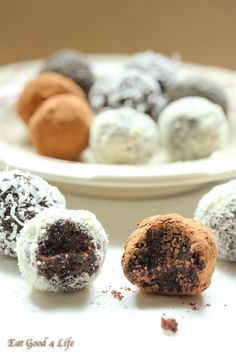 energy truffles-gluten free and vegan. These are healthy and easy to make. #cleaneating #vegan #glutenfree