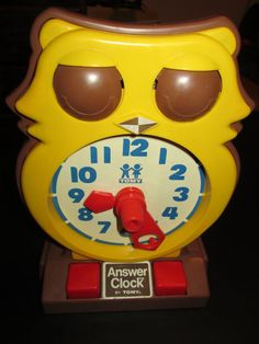 Answer Clock by Tomy  Vintage Owl Time Teaching by FriendsRetro, $23.00