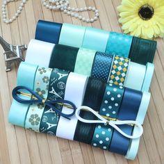 Cheap Ribbon, Diy Ribbon, Green Ribbon, Ribbon Colors, Ribbon Bows, Grosgrain Ribbon, Ribbon Storage, Cute Headbands, Gift Wrapping Services