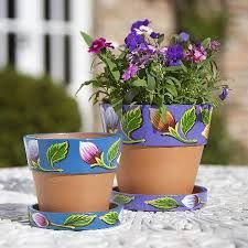 25 Simple Easy Flower Pot Painting Ideas 9 - Craft Home Ideas Painted Plant Pots, Painted Flower Pots, Flower Pot Crafts, Clay Pot Crafts, Charity Christmas Gifts, Teintes Pastel, Large Flower Pots, Decorated Flower Pots, Plant Drawing