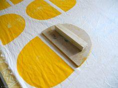 Block stamp by Portuguese designer Maria João Arnaud in her Tinturaria® Hand Printing studio. via the artist's site