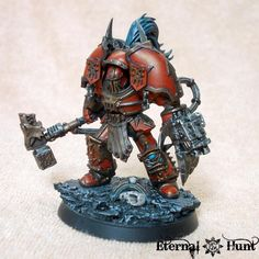 Chaos, Chaos Lord, Chaos Space Marines, Conversion, Doomwall, Khorne, Khorne's Eternal Hunt, Kitbash, Mk 1 Terminator, Terminator Armor, Warhammer 40,000, World Eaters