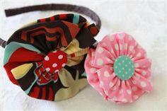 Creation Corner: Flower Headband and Hair-clip Tutorial
