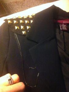 Embellish a plain blazer