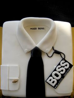 boss cake — Clothing / Shoe / Purse Best Picture For birthday cake originales For Your Taste You are looking for something, and it is going to tell you exactly what you are looking for, and you didn't Dad Cake, Cake Boss, Birthday Cakes For Men, Cakes For Boys, Pretty Cakes, Cute Cakes, Cake Design For Men, Shirt Cake, Dress Shirt