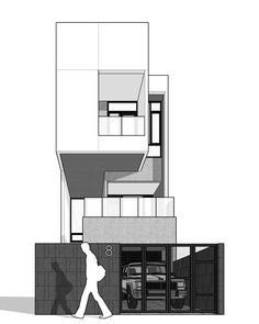 New house architecture drawing projects 30 ideas Minimalist Architecture, Modern Architecture House, Concept Architecture, Facade Architecture, Residential Architecture, Cades, Architecture Presentation Board, House Sketch, House Drawing