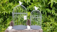 Cage à oiseau décorative en métal