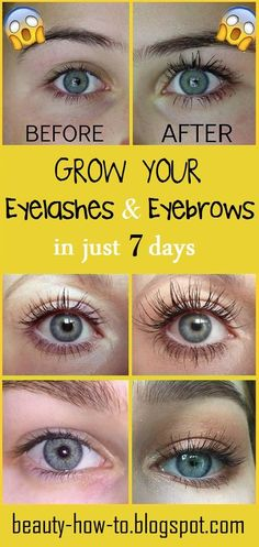 How to make your eyelashes & eyebrows Grow fast in just 7 days - How To Beauty Make Eyebrows Grow, How To Grow Eyelashes, Longer Eyelashes, Fast Makeup, Eye Makeup, Beautiful Eyelashes, Threading Eyebrows, Threading Salon, Perfect Eyes