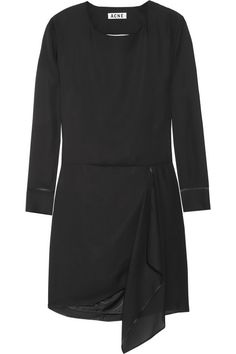 Acne | Adelle Tape open-back chiffon dress | NET-A-PORTER.COM