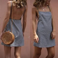 Plaid Backless Slim fit short dress Off The Shoulder Double Ruffle Tankini Top - Red Plum Embroidery Flora Tight Dresses, Casual Dresses, Short Dresses, Casual Outfits, Dresses Dresses, Dresses Online, Fashion Show Dresses, Fashion Outfits, Fashion Women
