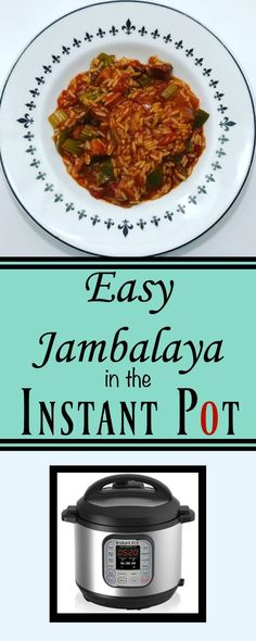 Jambalaya is one of my favorite dishes and with my Instant Pot I can whip up a batch of Easy Jambalaya in short order. Instant Pot Pressure Cooker, Pressure Cooker Recipes, Pressure Cooking, Slow Cooker, Instant Recipes, Jambalaya, Pinterest Recipes, Family Meals, Easy Meals