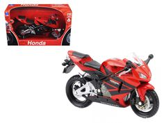 2006 Honda Red Motorcycle 112 Diecast Model by New Ray, , RC Cars & Motorcycles Products, Vehicles, Trains & RC Products Red Motorcycle, Star Wars, Rubber Tires, Metal Casting, Diecast Models, Rc Cars, Honda, Vehicles, Cars Motorcycles