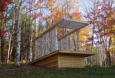 In a Vermont forest, architecture students design and build a pavilion for quiet contemplation. Slideshow The Birch Pavilion sits atop a platform composed of hemlock and pressure-treated timbers.