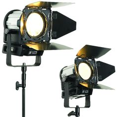 LitePanels Inca lights. LED fresnels that replace traditional tungsten fresnels.