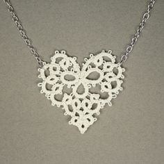 Reserved for joannaferrari White Heart Tatted Lace by RachelOs, $100.00