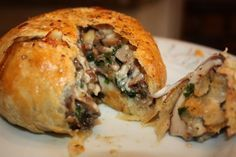Portobello Mushroom Wellingtons. These are amazing! They taste like something from a five star restaurant!