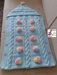 69 Trendy Ideas For Crochet Baby Blanket Girl Sleeping Bags Baby Girl Crochet Blanket, Knit Baby Dress, Baby Girl Blankets, Baby Knitting Patterns, Knitting Designs, Sewing Patterns, Girl Sleeping, Sleeping Bags, Knitting For Beginners