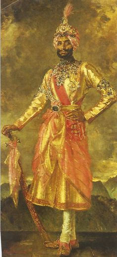The Maharaja of Patiala Vintage India, Royal Indian, India Asia, Mughal Empire, Royal Clothing, Indian Groom, Patiala, Royal Jewels, Indian Paintings