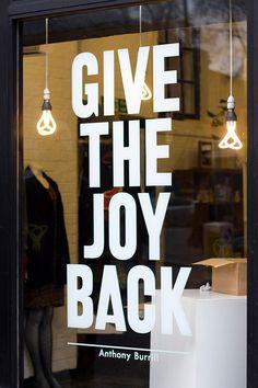 give the joy back