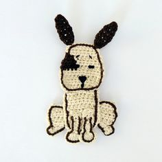 Crochet Applique Dog 3pcs Supplies For Clothing. $10.00, via Etsy.