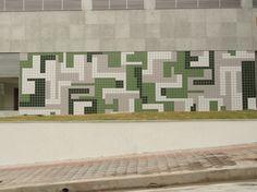composição abstrato-geométrica em verde, 2011 - Alexandre Mancini