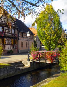 Flower Bridge of Stotzheim, Alsace France