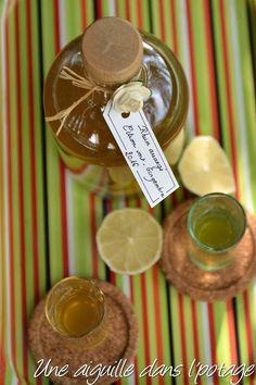 une aiguille dans l' potage: Rhum arrangé citron vert- gingembre