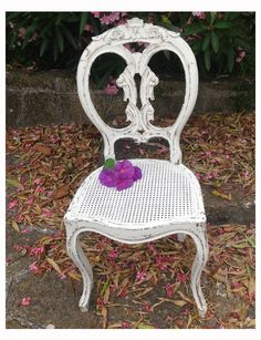 cadeira de palhinha pintada a branco decape