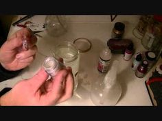 Homemade Glimmer Spritz Tutorial, using Dollar Store Shimmer Eye Shadow, Isopropyl Alcohol, and Glossy Accents (she also offers suggestions for substitutions for these ingredients).
