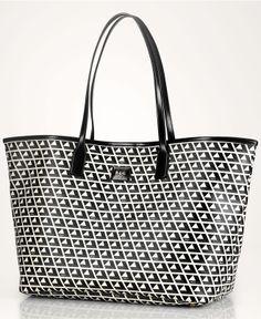 Lauren Ralph Lauren Handbag, Romilly Classic Tile Tote - All Handbags - Handbags & Accessories - Macy's